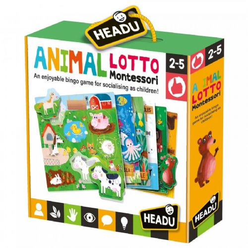 Kids Educational Animal Bingo Lotto Montessori Game